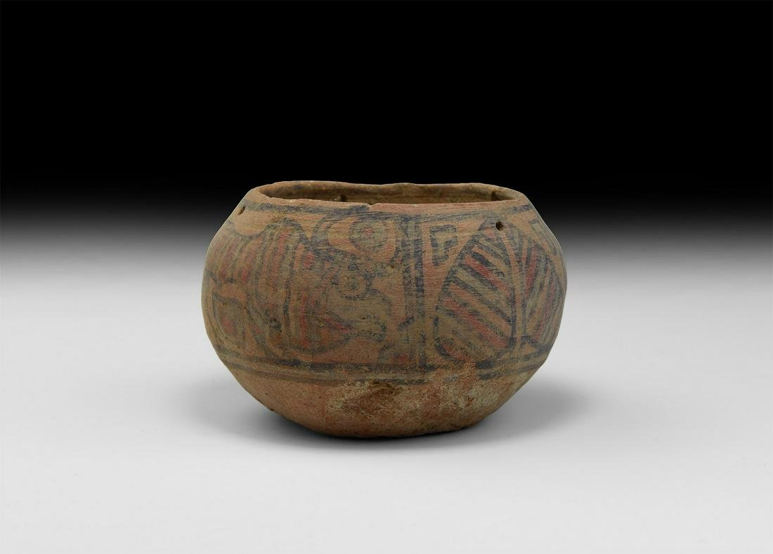 Indus Valley Mehrgarh Decorated Bowl with Lion and Zebu