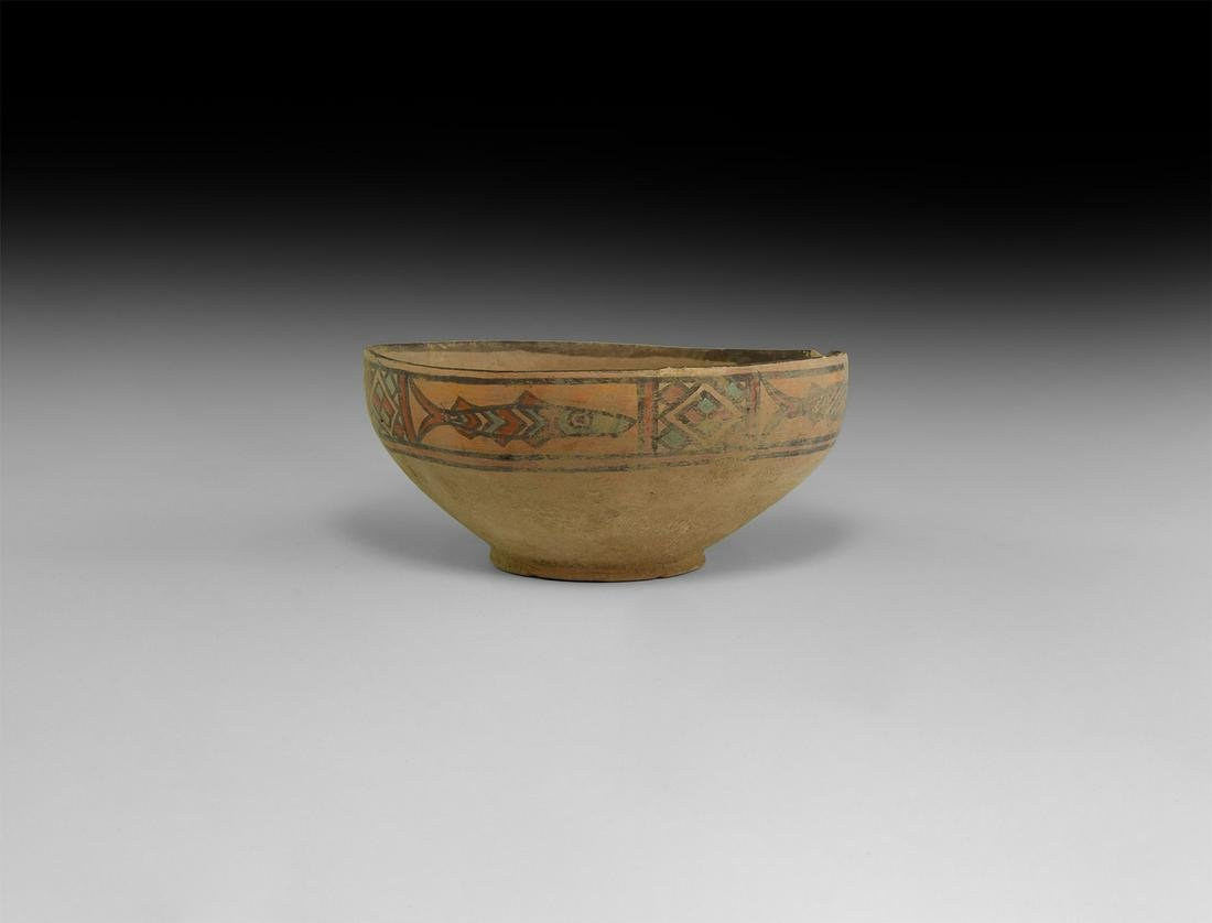 Indus Valley Mehrgarh Painted Bowl with Fish