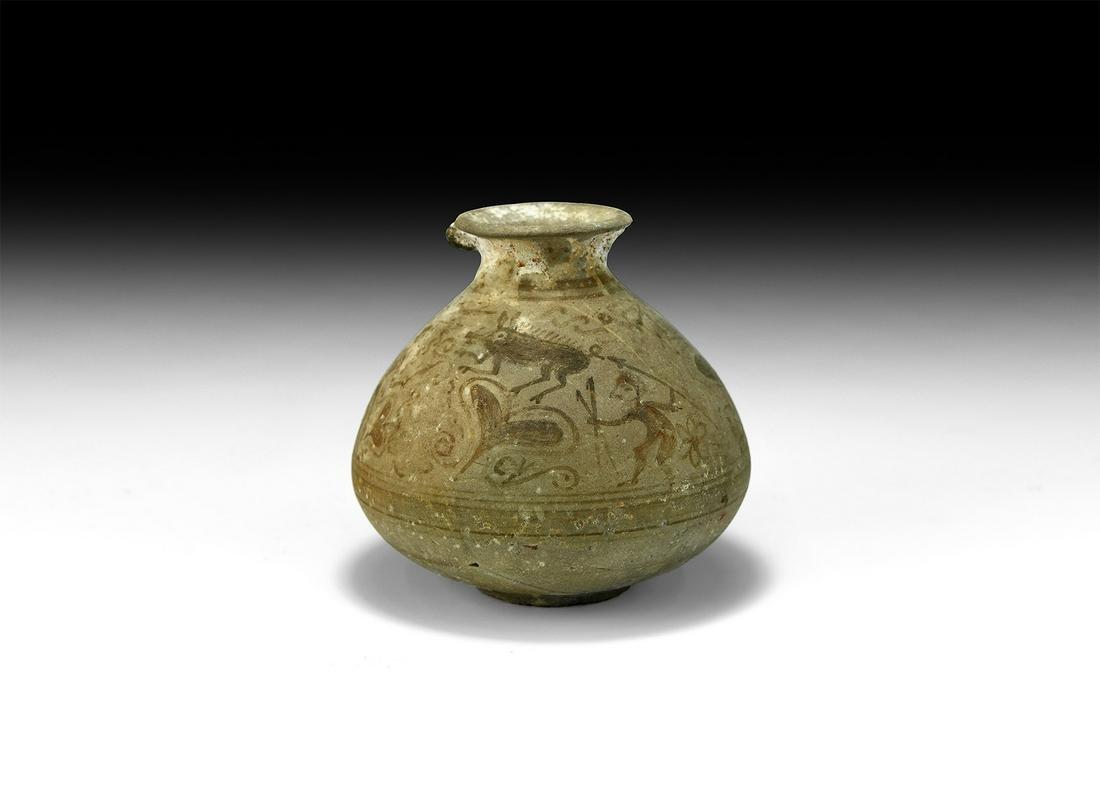 Iron Age Celtiberian Vessel with Hunting Scene
