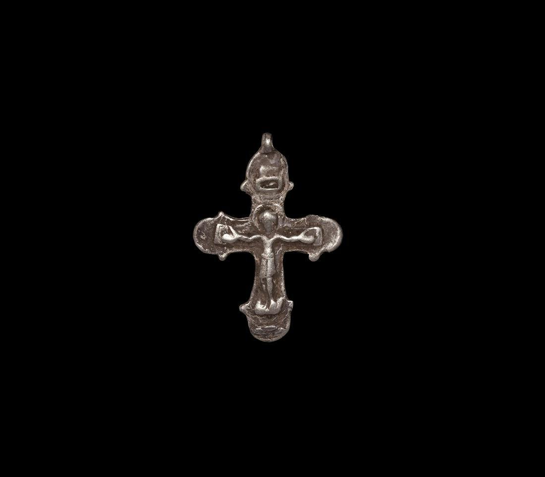 Medieval Silver Cross Pendant