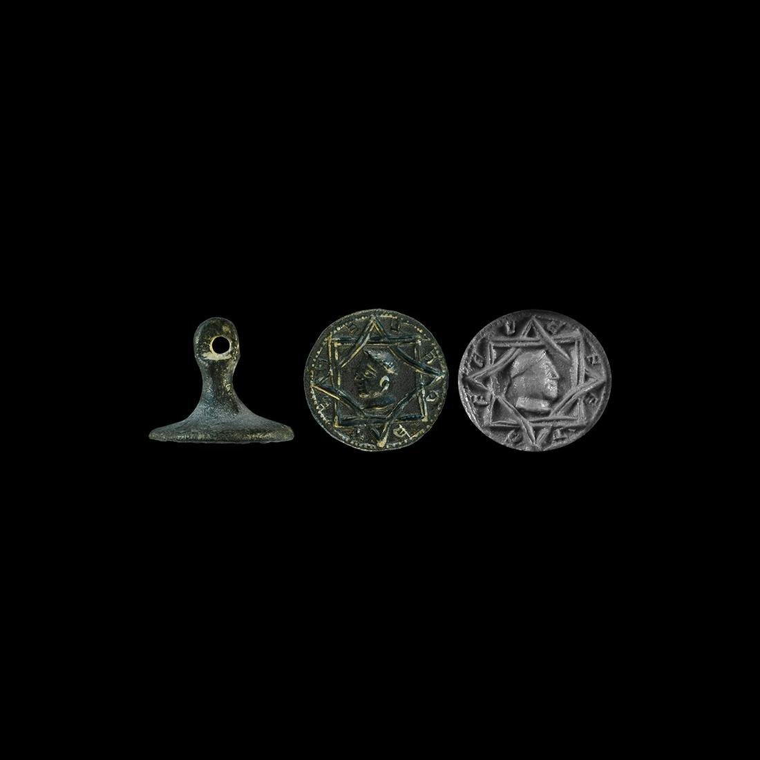 Medieval Merchant's Seal Matrix with Portrait
