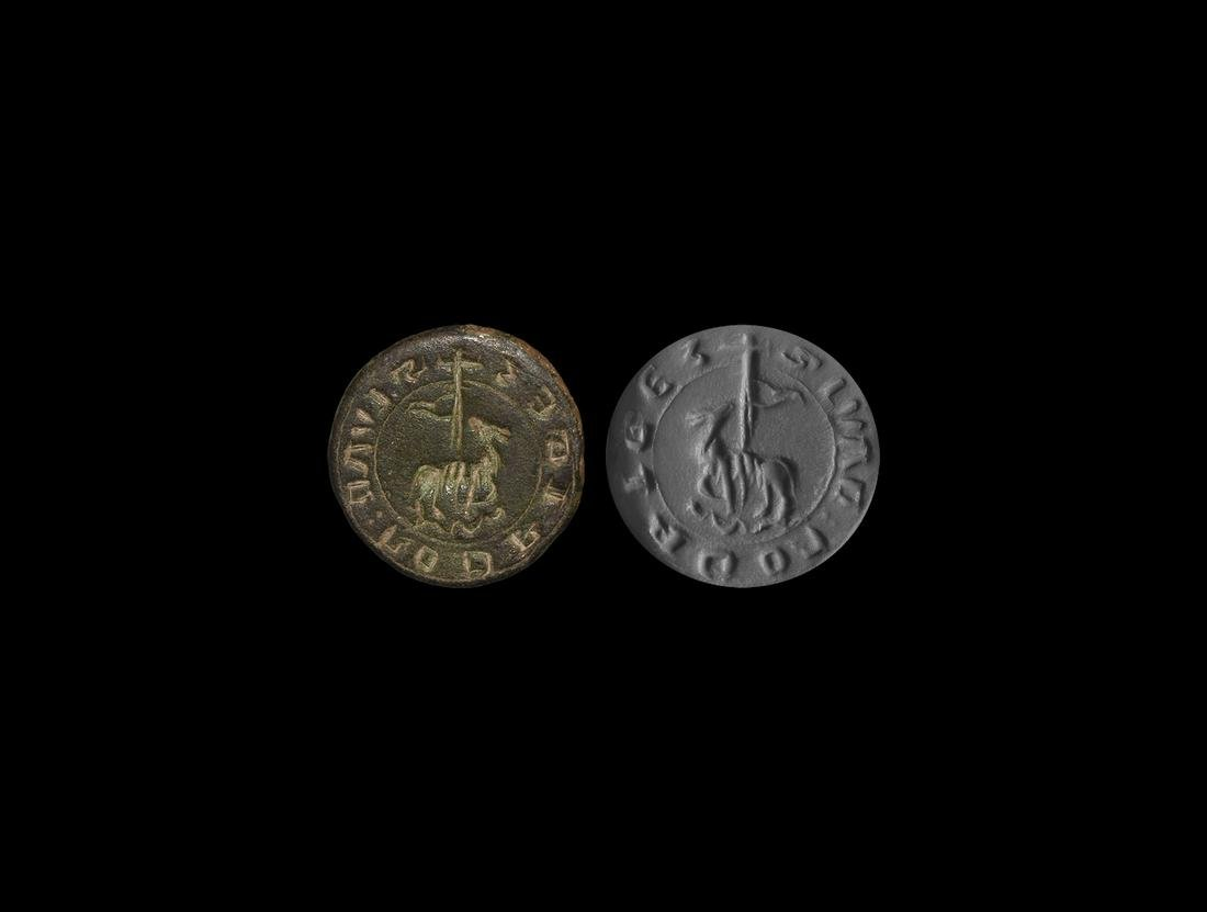 Medieval Spanish Seal Matrix for Juan Rodrigez