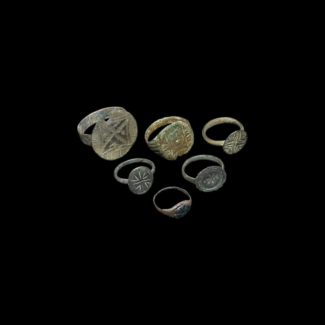 Medieval Ring Collection with Cross Motifs