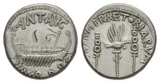 Ancient Roman Empire Coins - Mark Antony - Praetorian