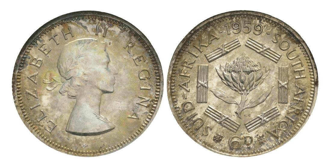 South Africa - Elizabeth II - 1959 - Proof 6d