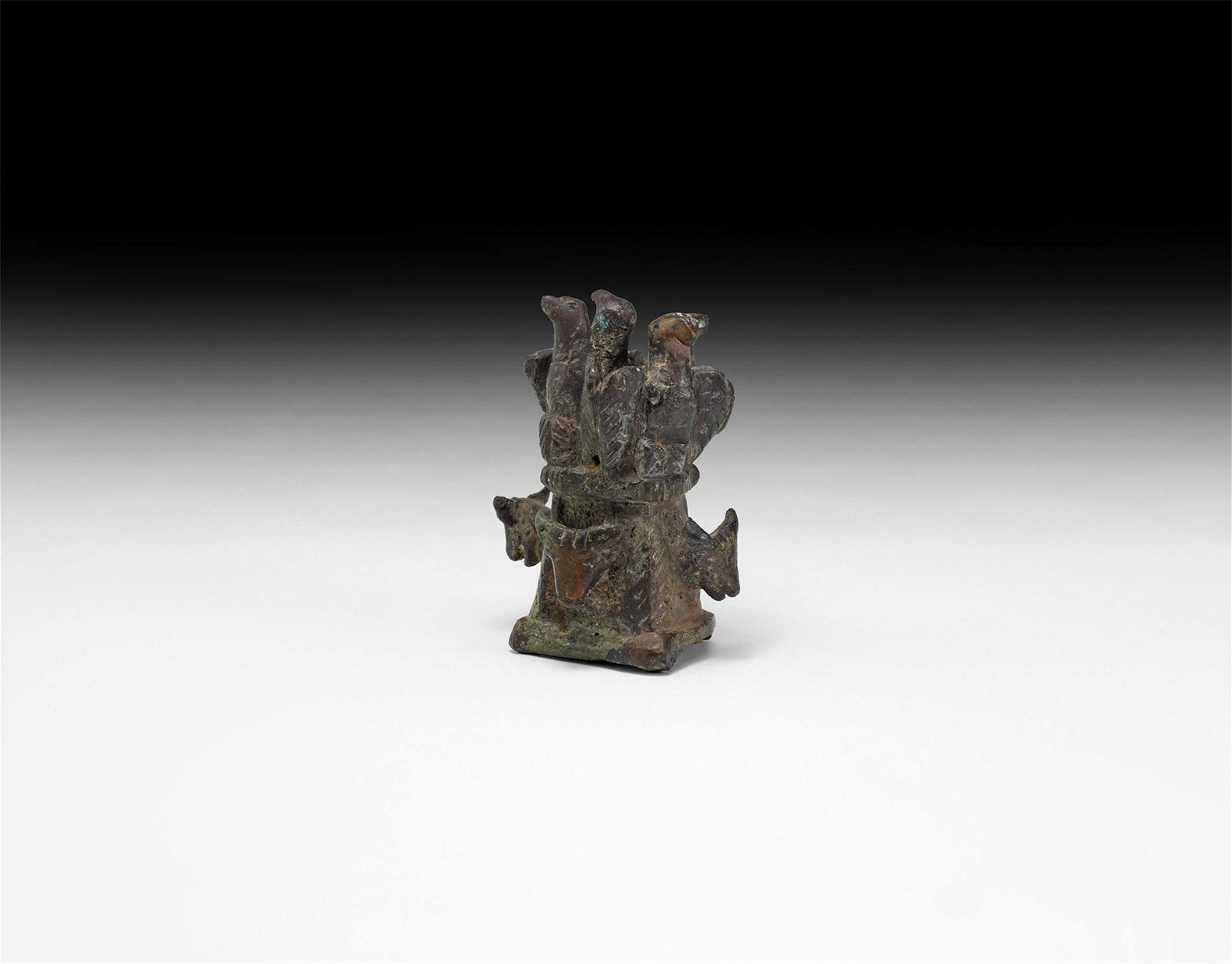 Roman Chariot Finial with Eagles and Bull's Heads