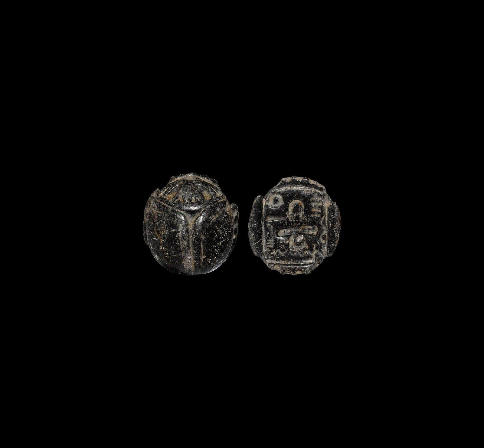 Large Phoenician Scarab Amulet