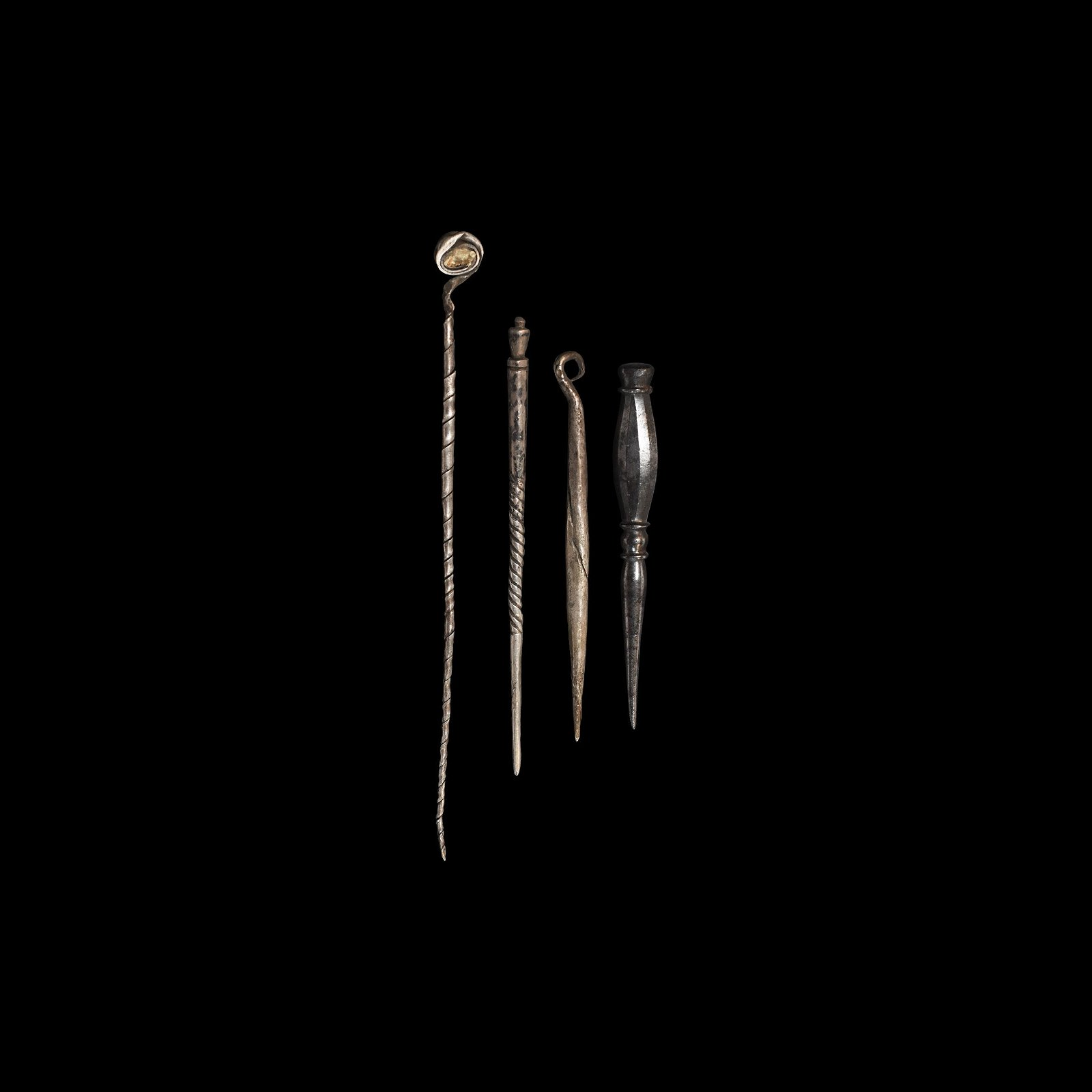 Roman Silver Stylus and Pin Collection