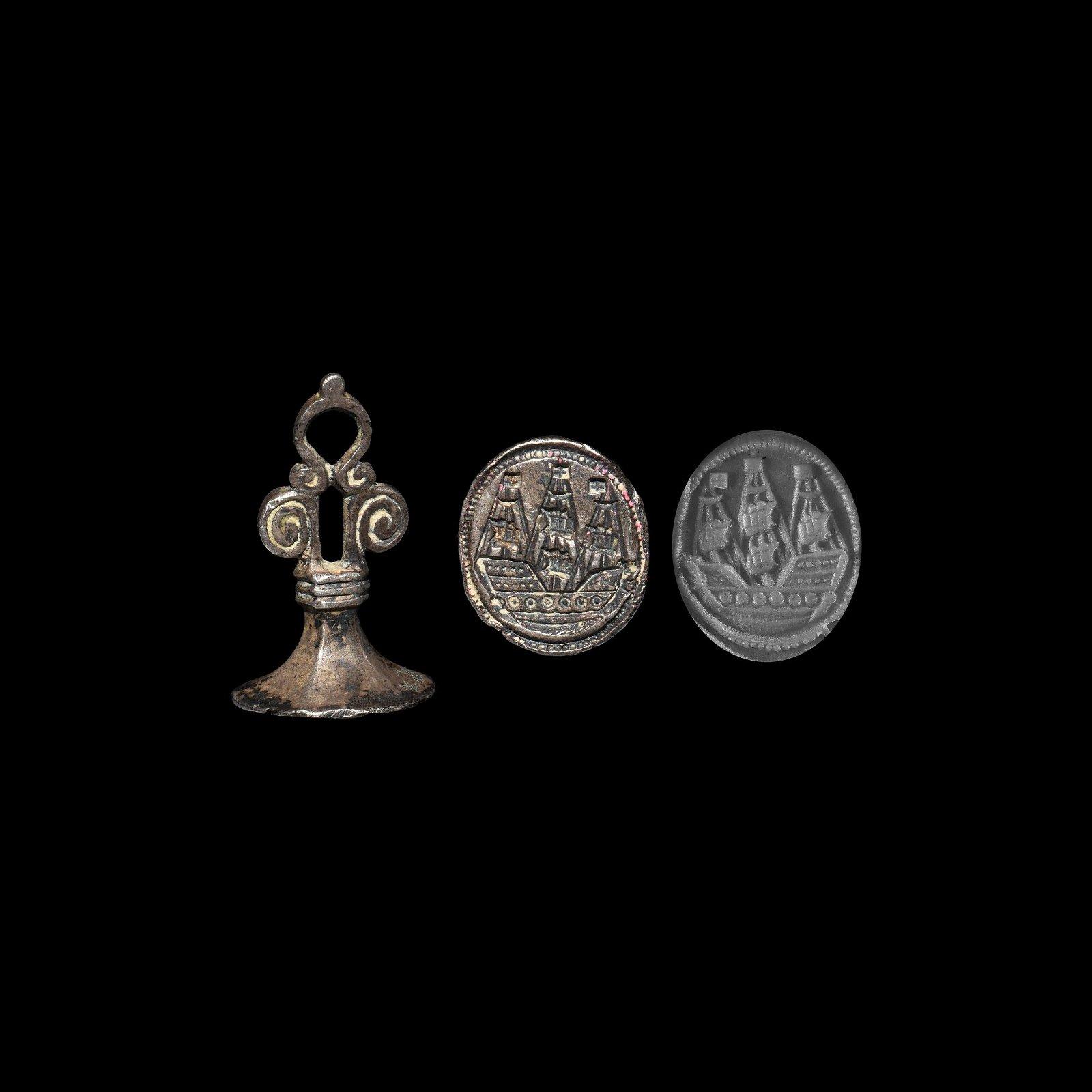 Post Medieval Sailing Ship Seal