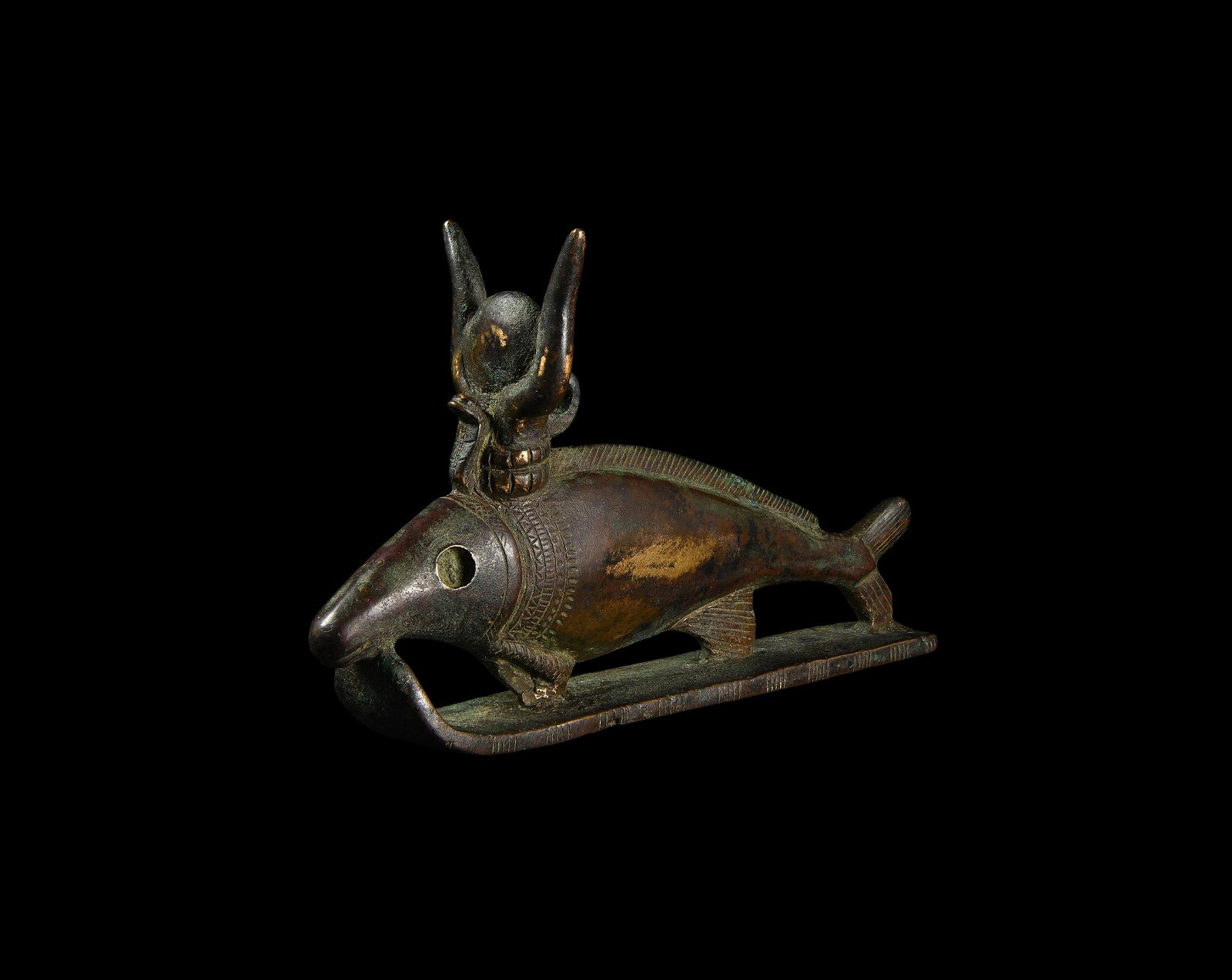 Exceptional Egyptian Oxyrhynchus Fish Statuette