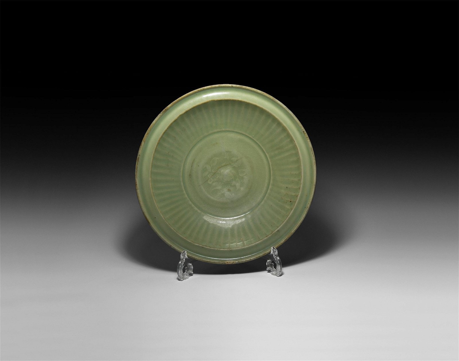 Large Chinese Ming Celadon Glazed Bowl