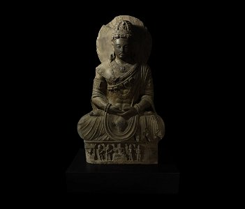 Very Large Gandharan Schist Meditating Buddha