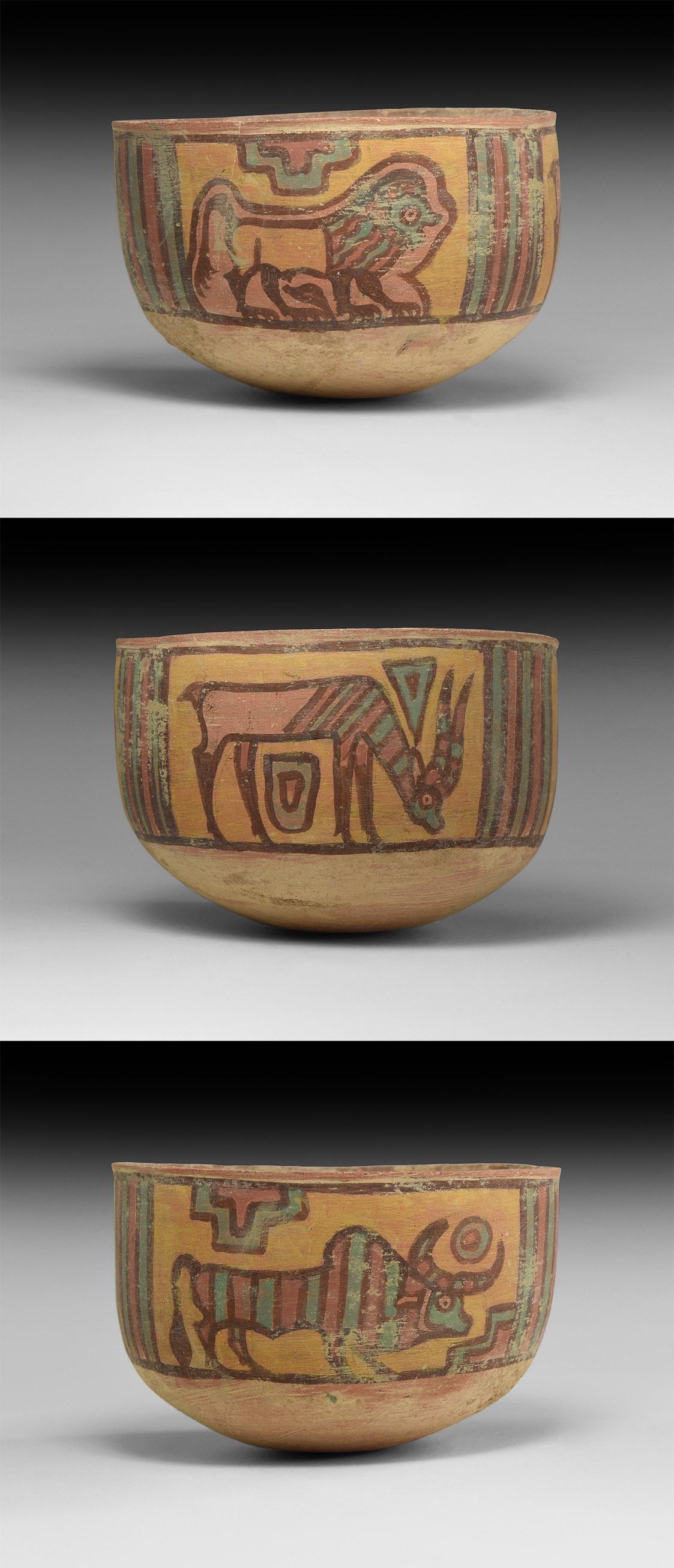 Indus Valley Mehrgarh Painted Vessel with Animals