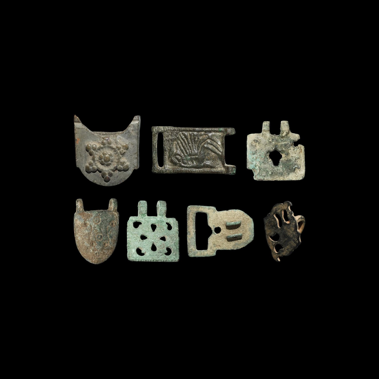 Medieval Buckle Plate Group