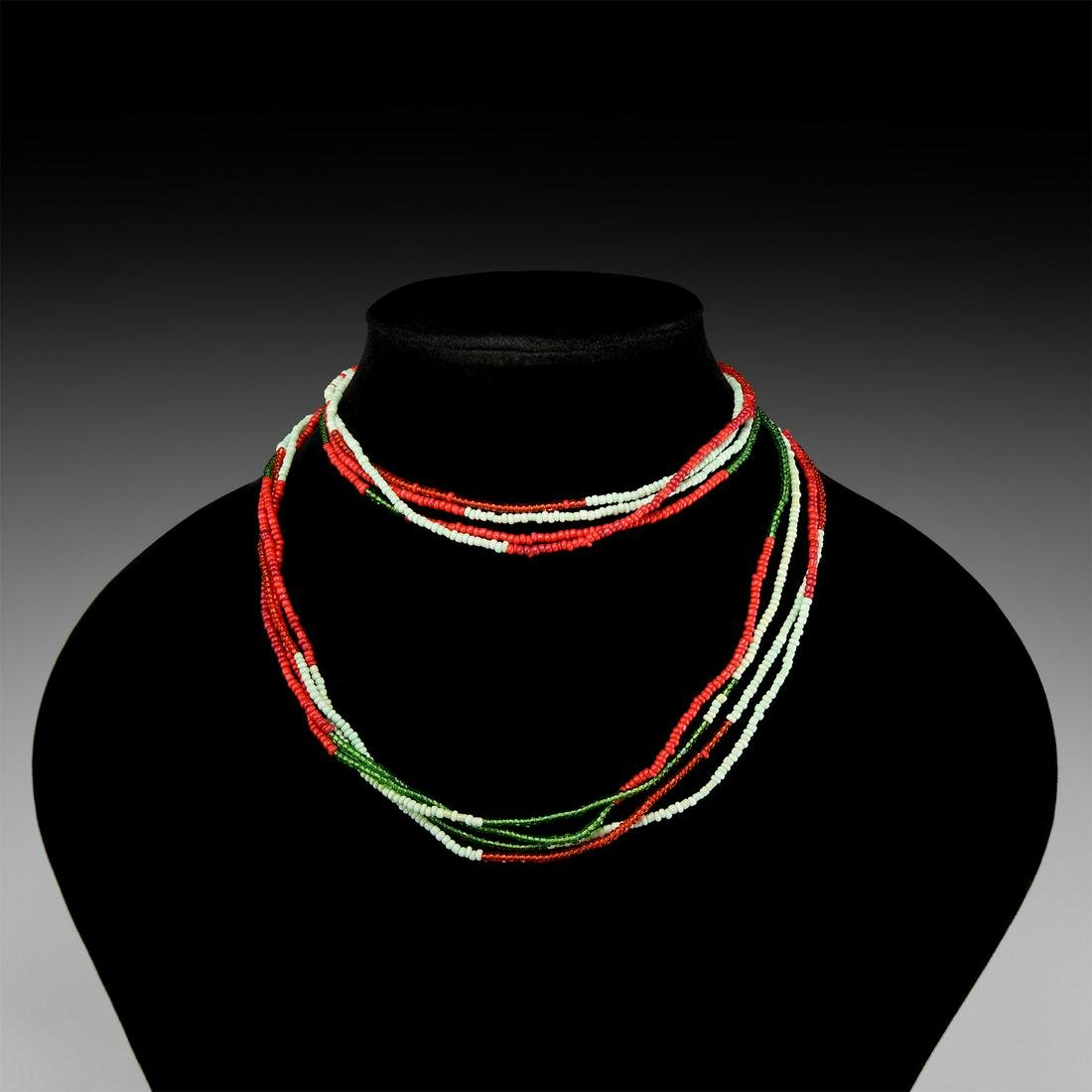 Multi-Strand Designer Bead Necklace