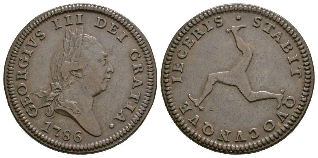 Isle of Man - George III - 1786 - Penny