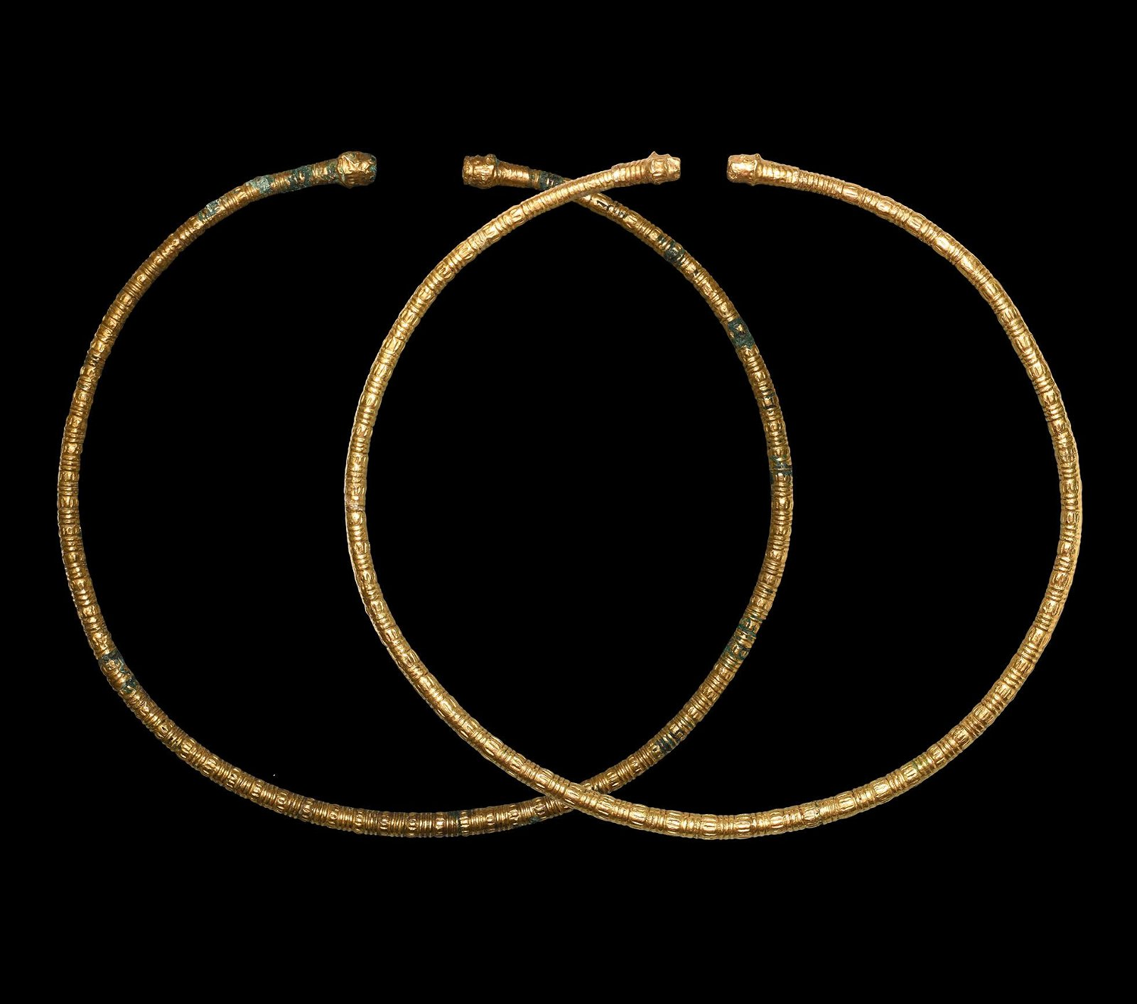 Scythian Gold Clad Torc Pair