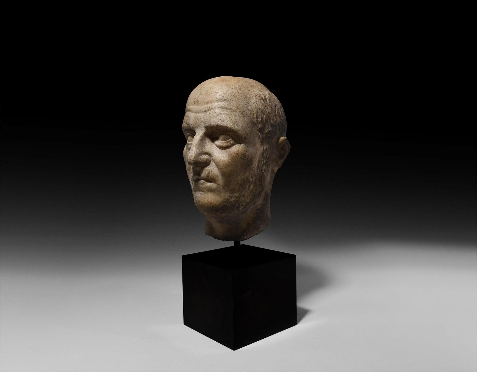 Roman Head of an Emperor or a Military Leader