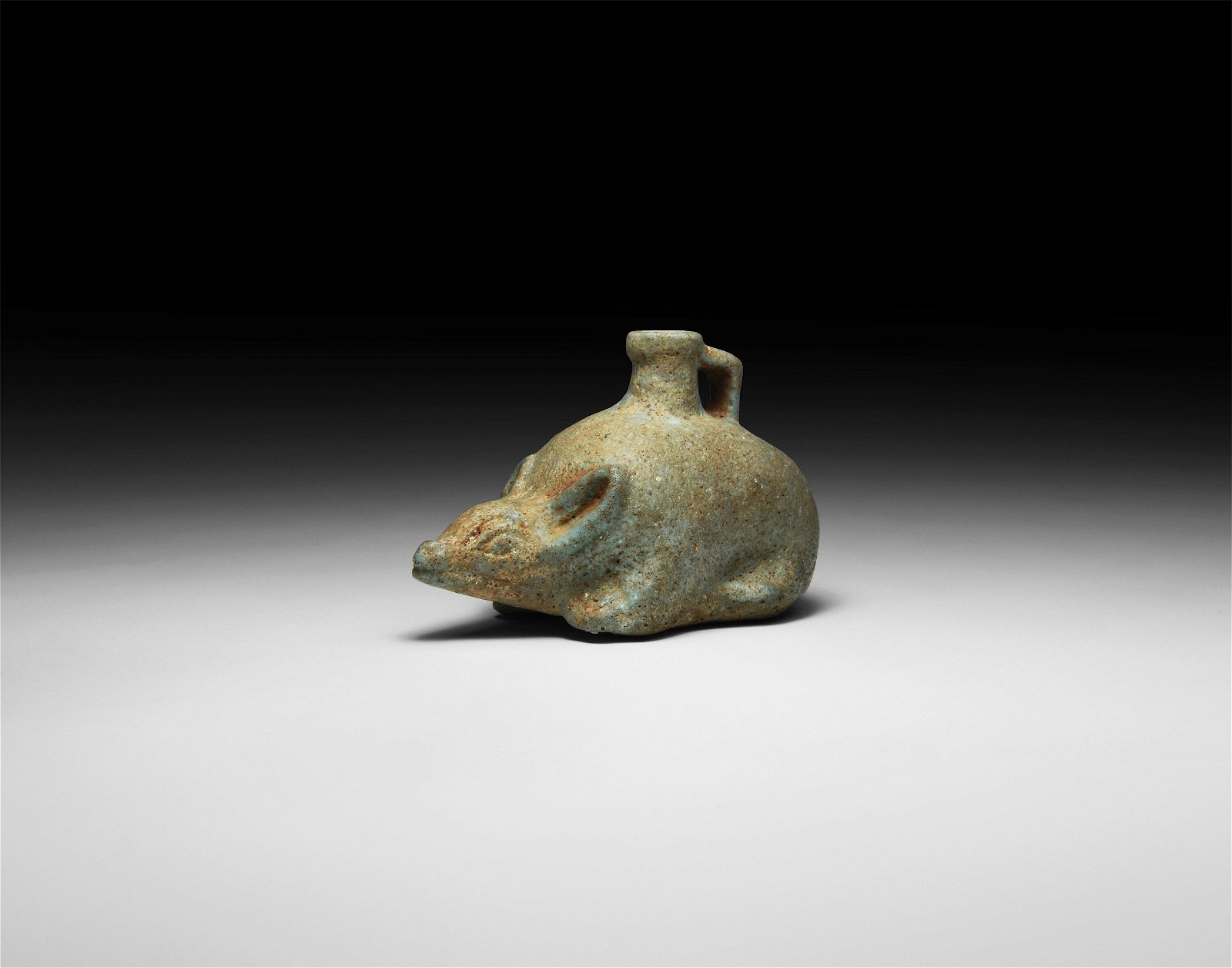 Egyptian Faience Mouse Vessel