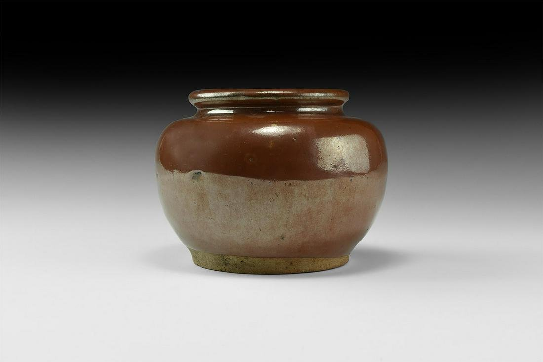 Chinese Tang Brown Glazed Pot