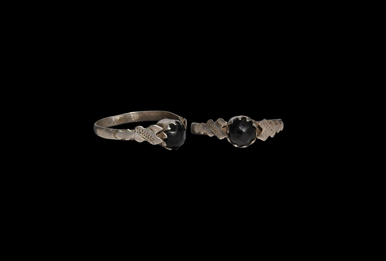Post Medieval Silver Ring with Gemstone