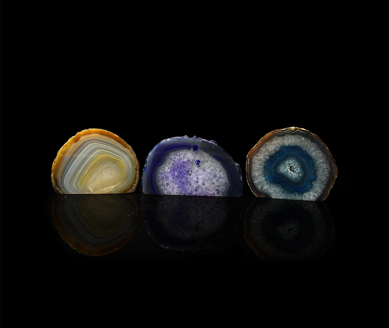 Large Cut and Polished Crystal Geode End Collection
