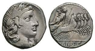 C Vibius C f Pansa - Minerva Denarius