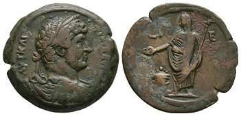 Hadrian - Egypt - Emperor Sacrificing Hemidrachm