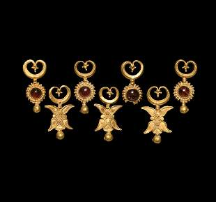 Indo-Bactrian Gold Necklace Pendant Group