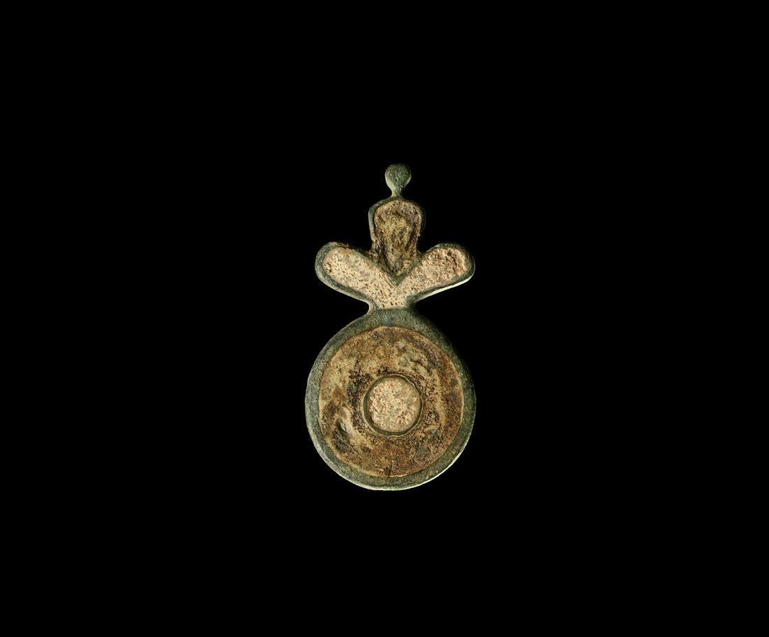 Roman Enamelled Plate Brooch