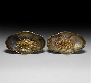 Chinese Gilt-Silver Bowl Pair