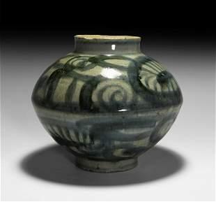 Chinese Yuan Proto Blue and White Jar