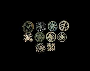 Large Indus Valley Seal Collection with Star Designs