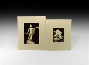 Antique Italian Albumen Photographs of Statues