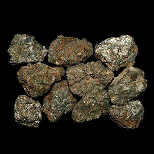 Large Pyrite Mineral Specimen Group [10]