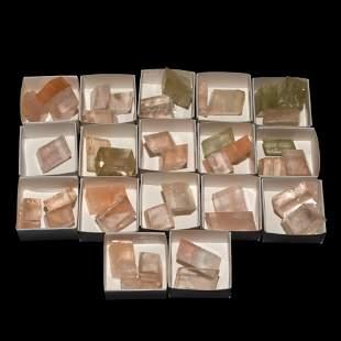 Iceland Spar Mineral Specimen Group [40]