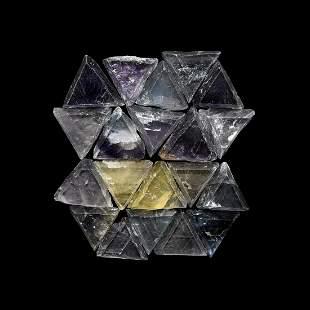 Fluorite Triangle Mineral Specimen Group [20]