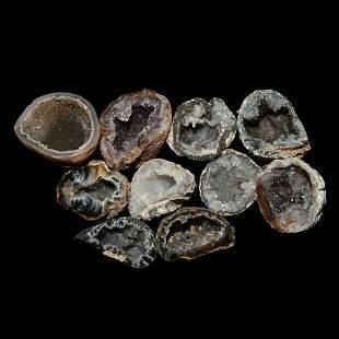 Cut Geode Mineral Specimen Group [10]