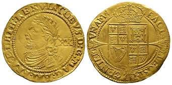 James I - Gold Laurel 20 Shillings