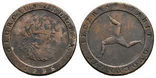 Isle of Man - George III - 1798 - Plated Halfpenny