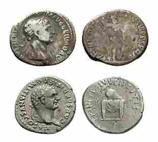 Domitian and Trajan AR Denarius Group [2]