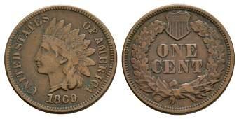 USA - 1869 - Indian Head Cent