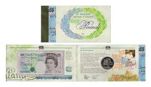 Bank of England - Last £5 Note & Coin set [2]