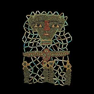 Mummy Bead Face Mask with Four Sons of Horus