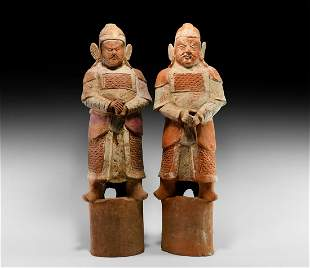 Song Armoured Terracotta Soldier Pair