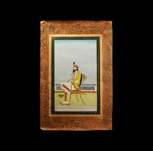 Sikh School Painting of a Seated Nobleman