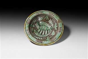 Maiolica Bowl with 'Mermaid'