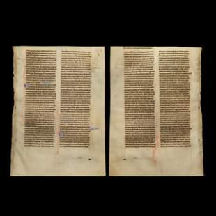 Medieval Illuminated English Manuscript Leaf
