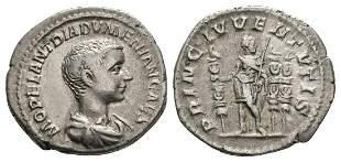 Diadumenian - Emperor Standing AR Denarius