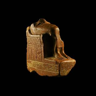 Egyptian Seated Isis Statue Fragment